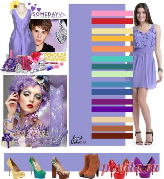 СИРЕНЕВЫЙ цвет (правильное сочетание цветов в одежде)   Сиреневый цвет сочетается с розовым, ярко-красным, бледно-желтым, цветом охры, бледно-морковным, ментоловым, изумрудным, бледно-салатовым, цветом морской волны, джинсовым, красно-фиолетовым, фиолетово-пурпурным, бежево-абрикосовым, светлым желто-коричневым, красно-коричневым