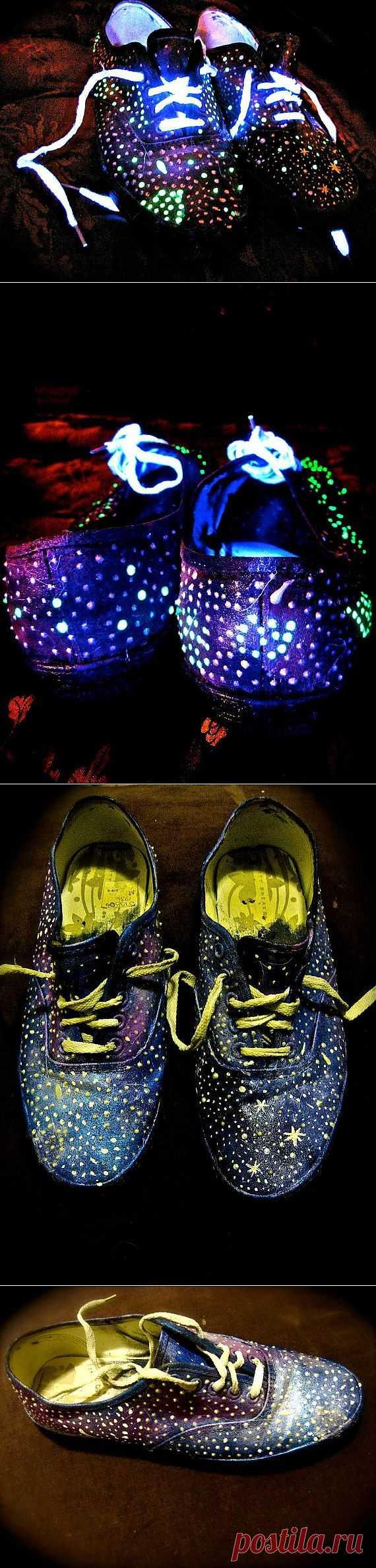Усиливаем эффект Galaxy / Обувь / Модный сайт о стильной переделке одежды и интерьера
