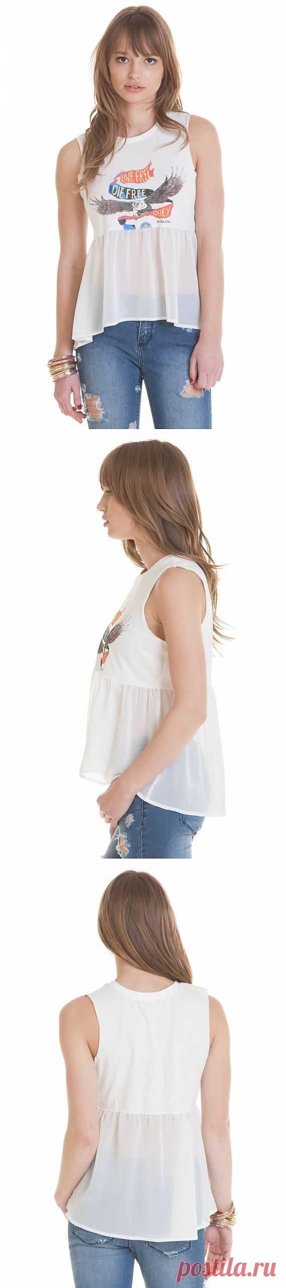Шифоновая баска Obey / Футболки DIY / Модный сайт о стильной переделке одежды и интерьера