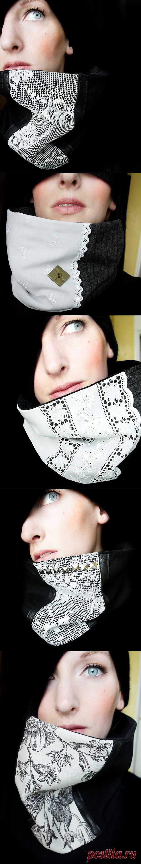 Шарфы-воротники / Шарфы / Модный сайт о стильной переделке одежды и интерьера
