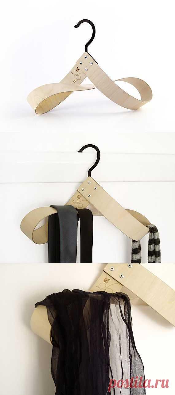 Оригинальная вешалка / Организованное хранение / Модный сайт о стильной переделке одежды и интерьера