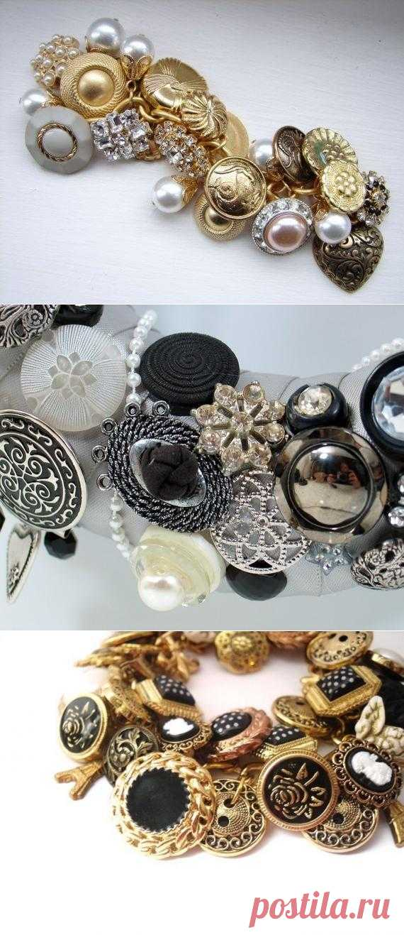 Ideas for jewelry from buttons