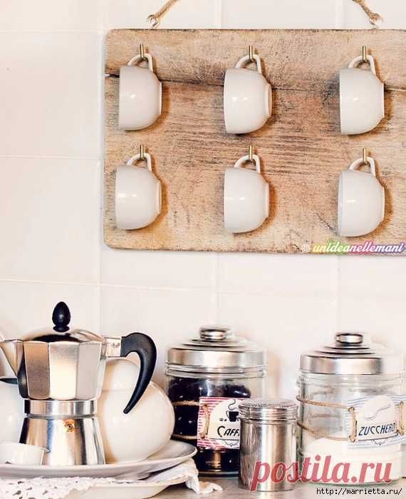Органайзер для кружек, из разделочной доски - Organizer for mugs, cutting boards