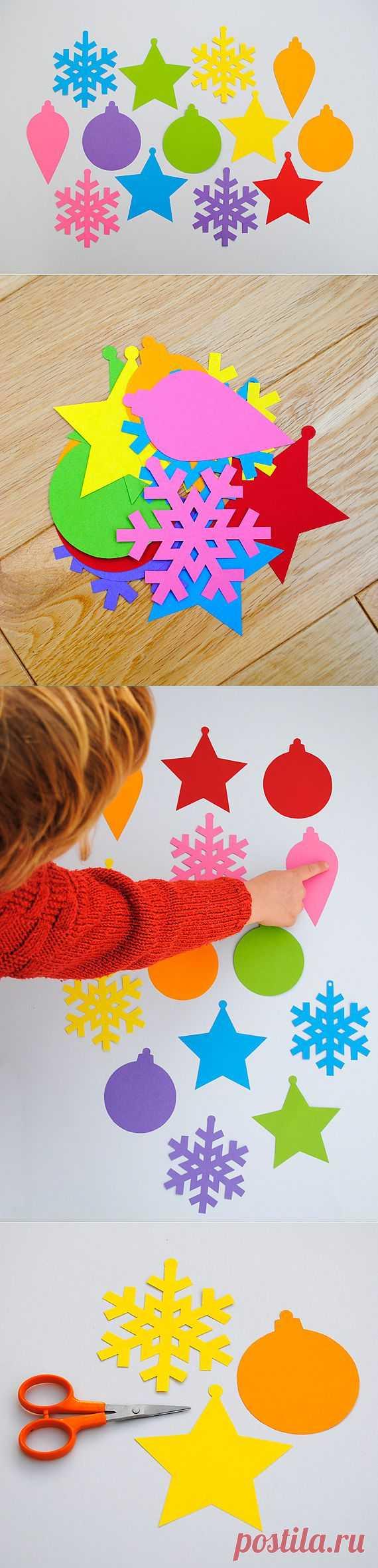 Простые украшения елочные для детей (+ шаблоны) | Мини-эко