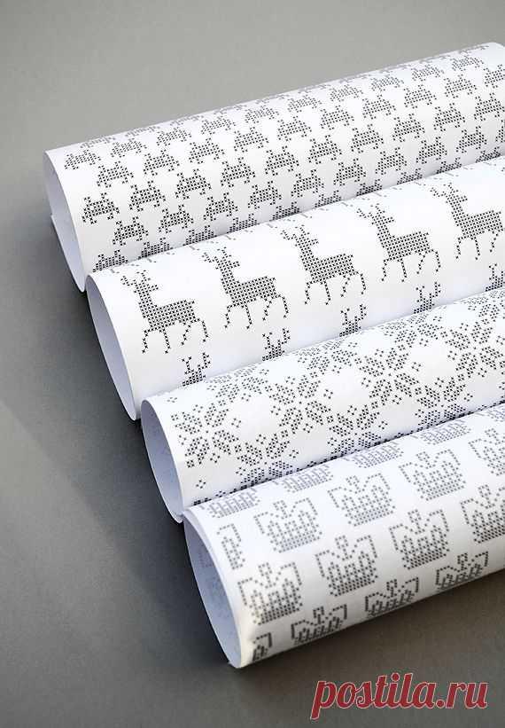 Упаковка подарков... бумага с вышивкой / Упаковка подарков / ВТОРАЯ УЛИЦА