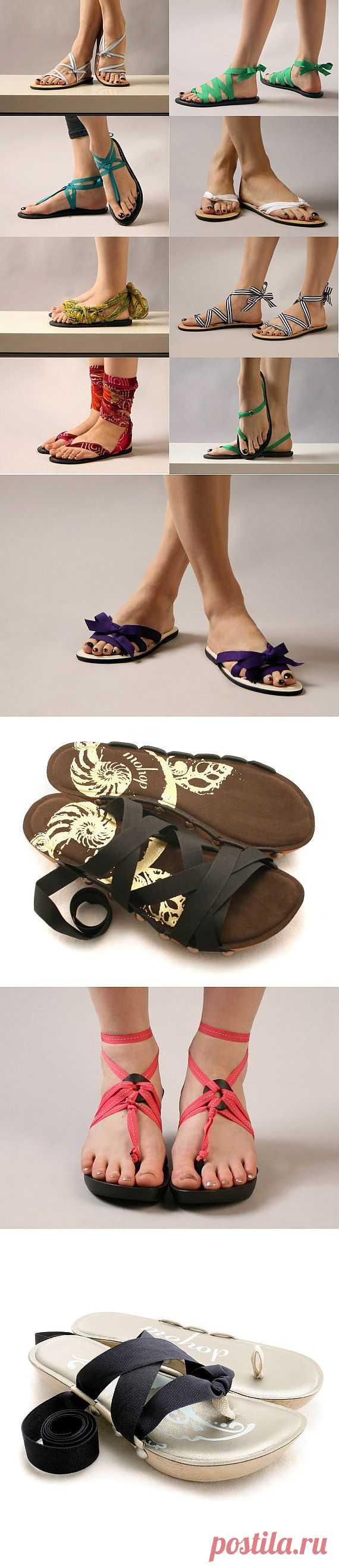 Гениальная идея переделки сланцев / Обувь / Модный сайт о стильной переделке одежды и интерьера