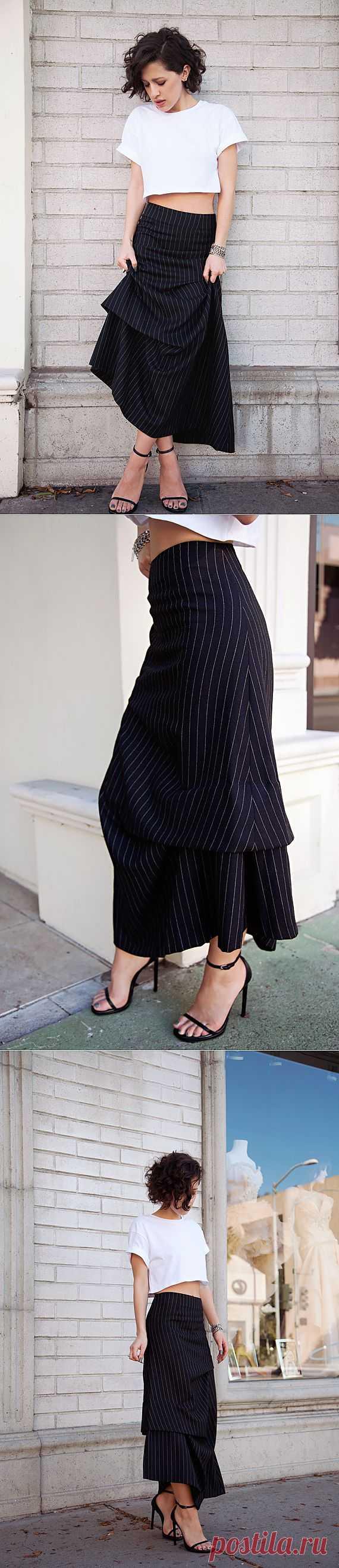 Ассиметричная юбка / Юбки и их переделки / Модный сайт о стильной переделке одежды и интерьера