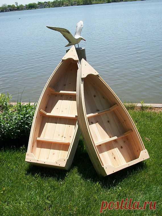 Деревянные лодочки для реализации декоративных задумок на даче...
