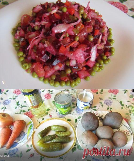Винегрет по классическому рецепту   Вкусные кулинарные рецепты