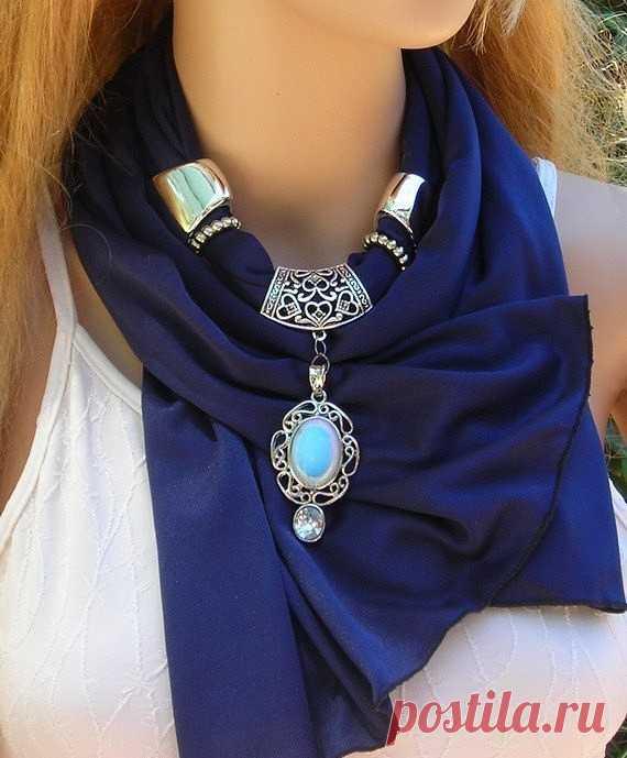 Эффектное украшение: шарф-колье — Рукоделие