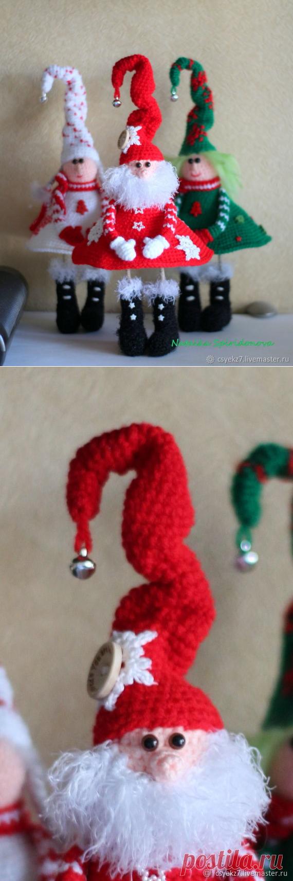 Вяжем Деда Мороза крючком - Ярмарка Мастеров - ручная работа, handmade