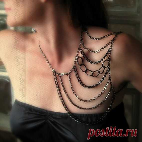Необычное колье на плечо / Украшения и бижутерия / Модный сайт о стильной переделке одежды и интерьера
