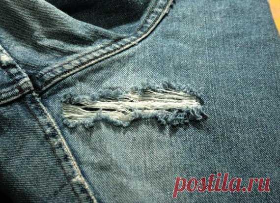 Как починить протертые джинсы — I Love Hobby — Лучшие мастер-классы со всего мира!