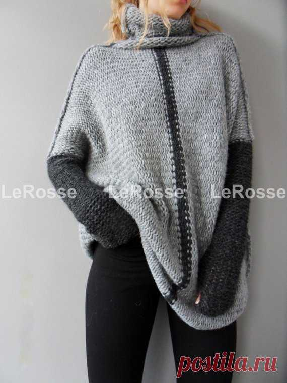 4e4a719bac0 Oversized/Slouchy/Loose knit sweater. Aplaca sweater. Chunky knitted ...