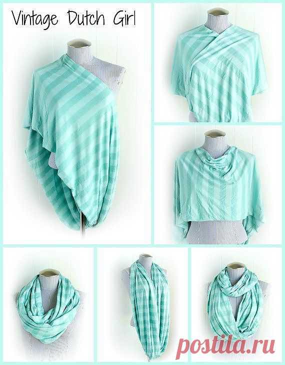 несколько идей повязать шарф
