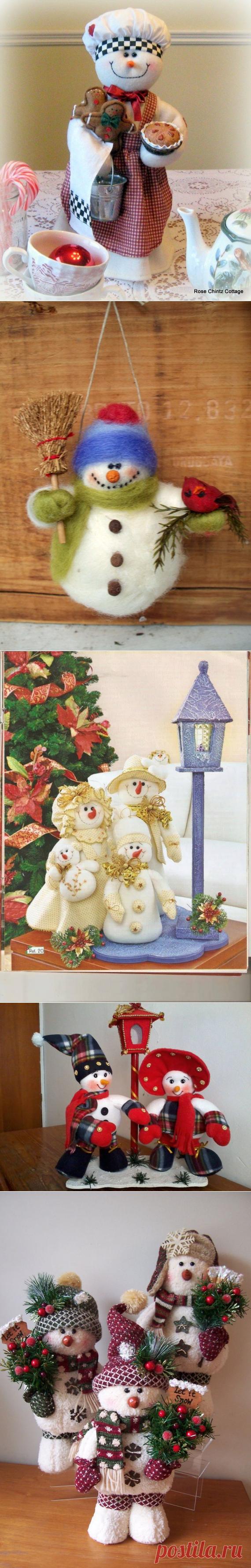 коллекция новогодних снеговиков