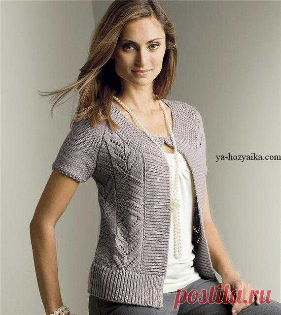 вязание спицами для женщин модные модели спицами с описанием жакет
