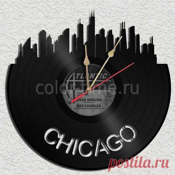 Часы из виниловой пластинки Чикаго (Chicago)
