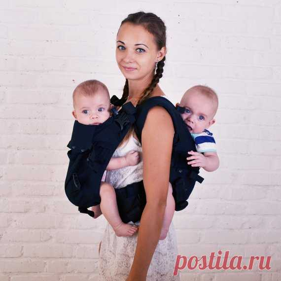 Malishastik Twin Baby Carrier Back Adapt Black Twin Wrap Carrier