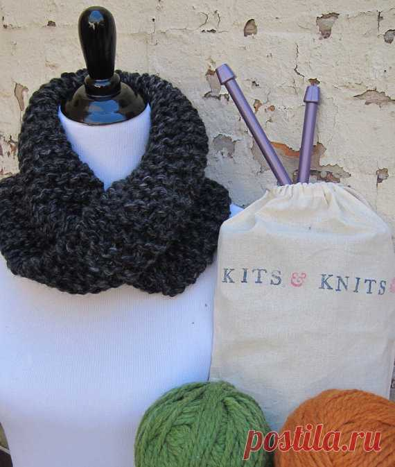 Knitting Kit Diy Beginner Knit Your Own Twisted Mobius Cowl
