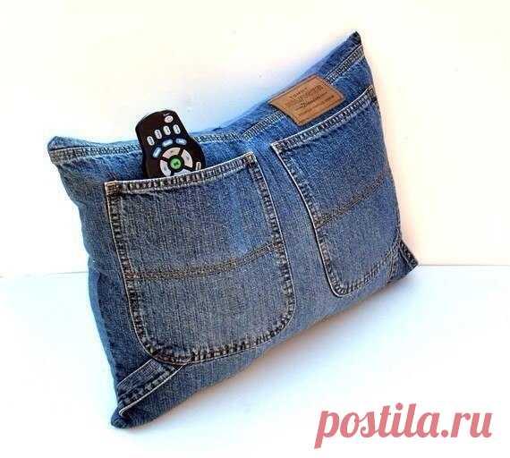 Интересный вариант использования ненужных джинсов