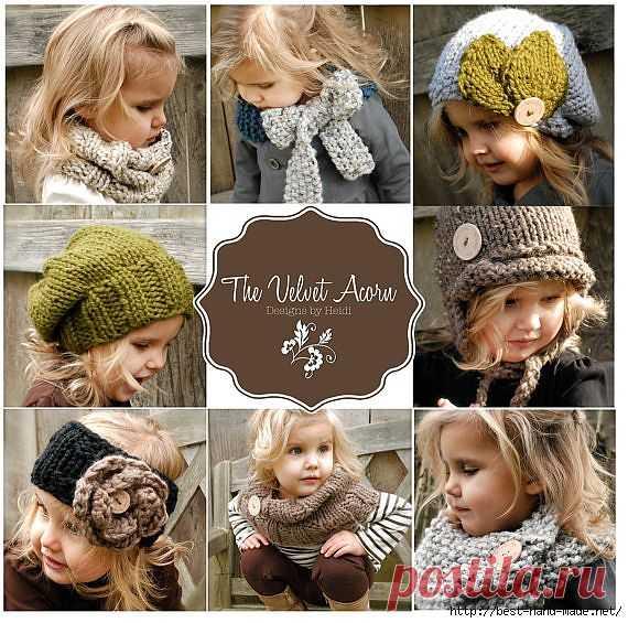 Уютные вязаные теплушки для малышек от Heidi May, США. И кое-что еще:).