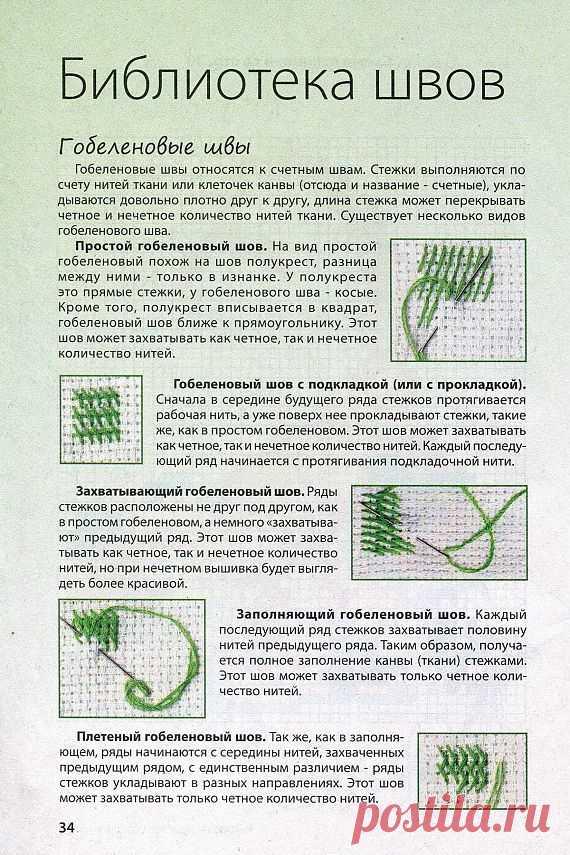 Швы (стежки) / Вышивка крестиком / PassionForum - мастер-классы по рукоделию