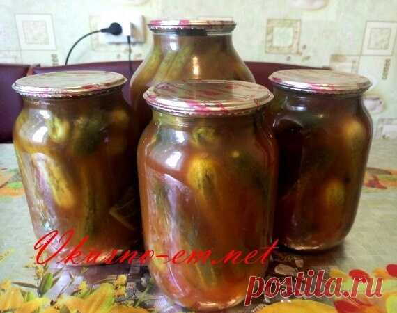 Огурцы с Кетчупом Чили на зиму рецепт с фото Дорогие мои друзья! Сегодня предлагаю вам свой самый лучший рецепт заготовки из огурцов на зиму – Хрустящие Огурцы с Кетчупом Чили. Пробуйте!