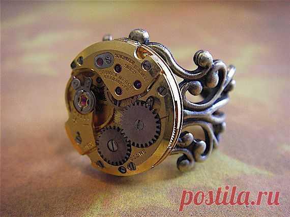 Кольцо в стиле стимпанк - $28.95 USD