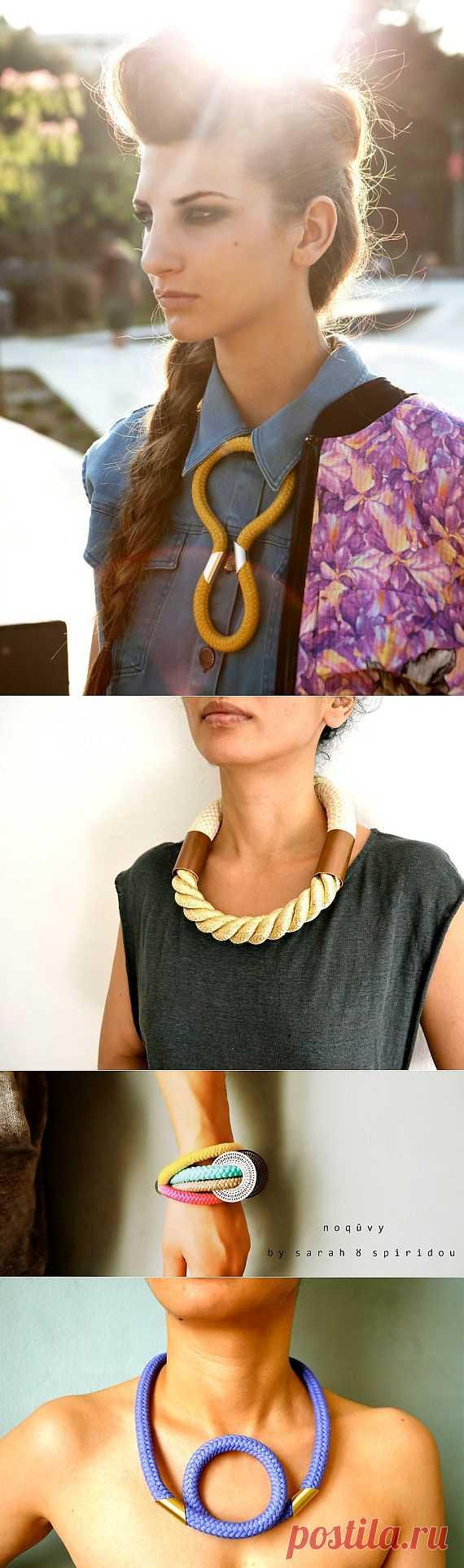 Украшения из верёвки / Украшения и бижутерия / Модный сайт о стильной переделке одежды и интерьера