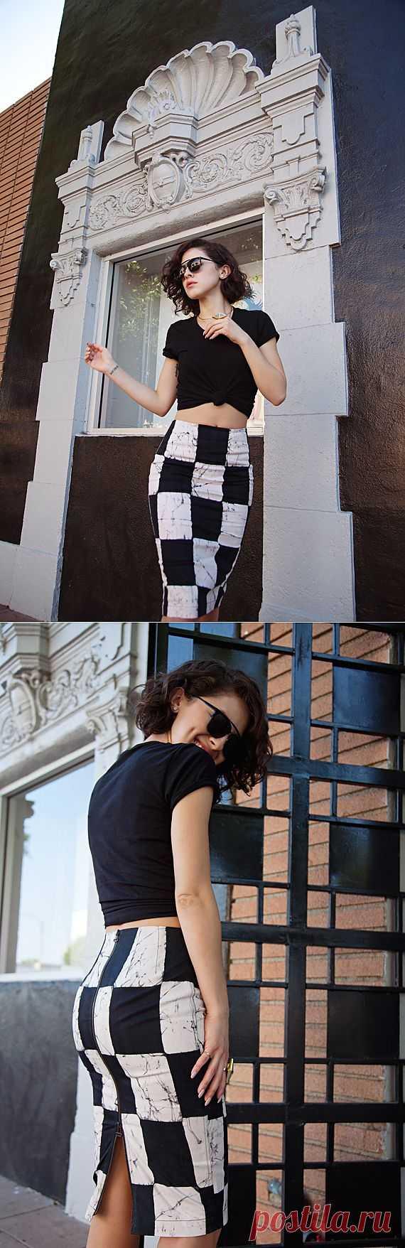 Шахматная юбка / Фактуры / Модный сайт о стильной переделке одежды и интерьера