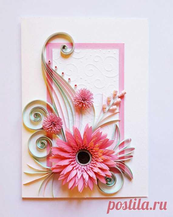 Квиллинг поздравительные открытки цветы, добрым