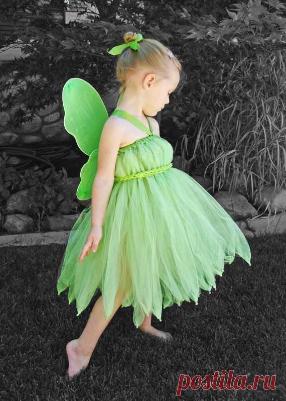 5b19276789e968 Как сшить костюм феи Динь-Динь для девочки своими руками? Выкройка костюма?
