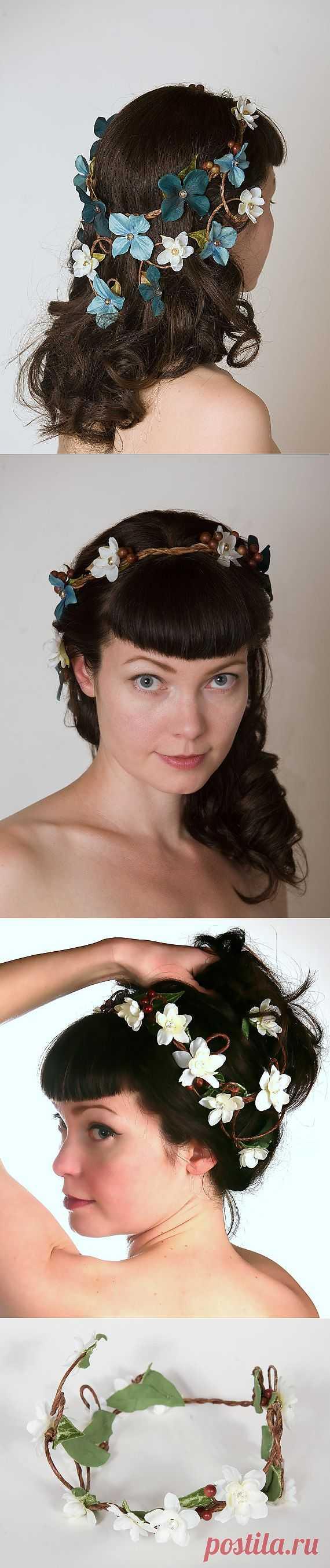Букет в голове / Украшения для волос / Модный сайт о стильной переделке одежды и интерьера