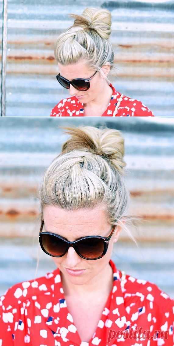 Коса переходящая в пучок / Прически / Модный сайт о стильной переделке одежды и интерьера