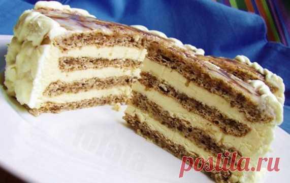La torta de primera clase en 25 minutos. ¡Sin cocción!