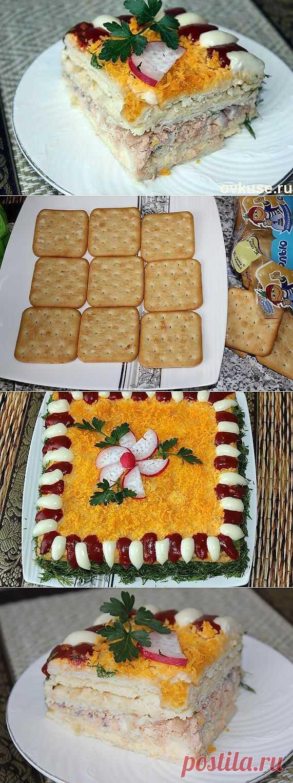 Fish salatik - cake with crackers. - Simple recipes of Овкусе.ру