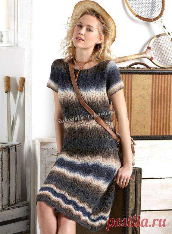 2c1114ff137 Летнее платье спицами и крючком - схемы для вязания