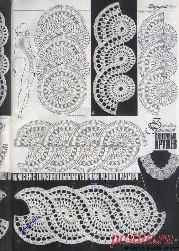 кружевной жакет крючком схемы схемы ленточного кружева шкатулка