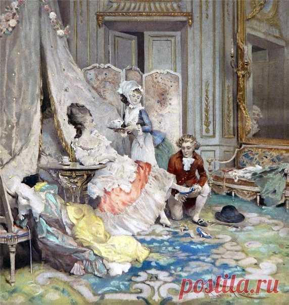 ИТАЛЬЯНСКИЙ ХУДОЖНИК LUCIUS ROSSI (1846-1913)