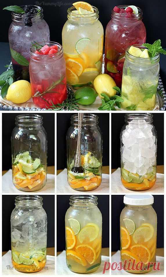 Рецепт Рецепты приготовления полезной и вкусной воды из фруктов и трав с фото в домашних условиях