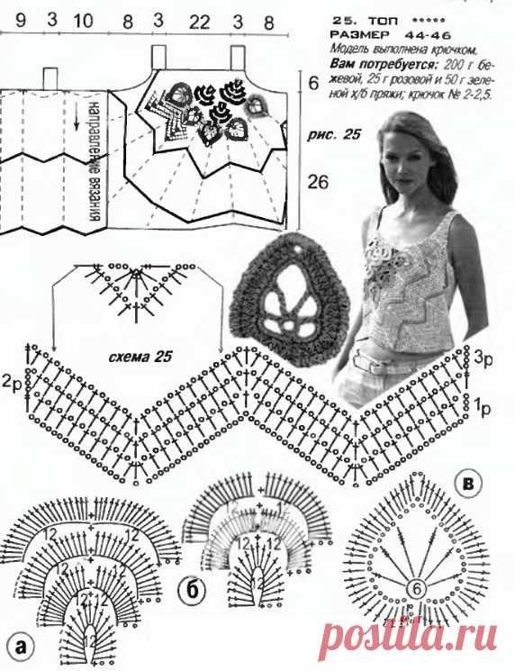 Irish crochet &: CROCHET TOP ... ТОП