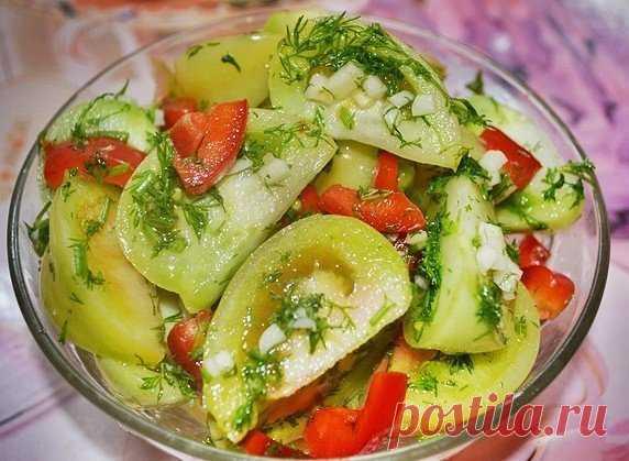 Маринованные зеленые помидоры на зиму. Потрясающая закуска! Попробуйте, не пожалеете!