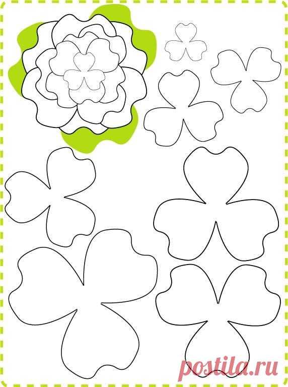 Для, объемные цветы из бумаги для открытки своими руками схемы