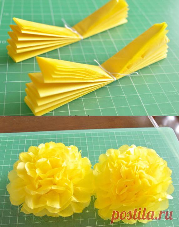 Как сделать объёмные цветы. | ИЗ БУМАГИ СВОИМИ РУКАМИ ...