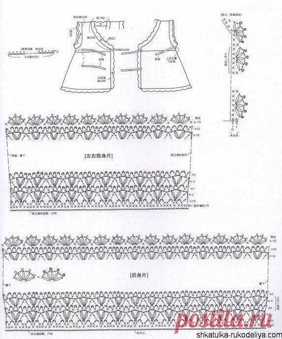 Платье крючком для малышки. Платье для новорожденной крючком со схемами. | Шкатулка рукоделия. Сайт для рукодельниц.