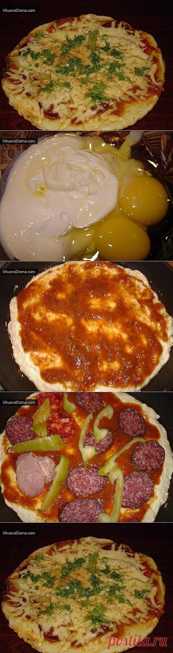Пицца на сковородке в домашних условиях