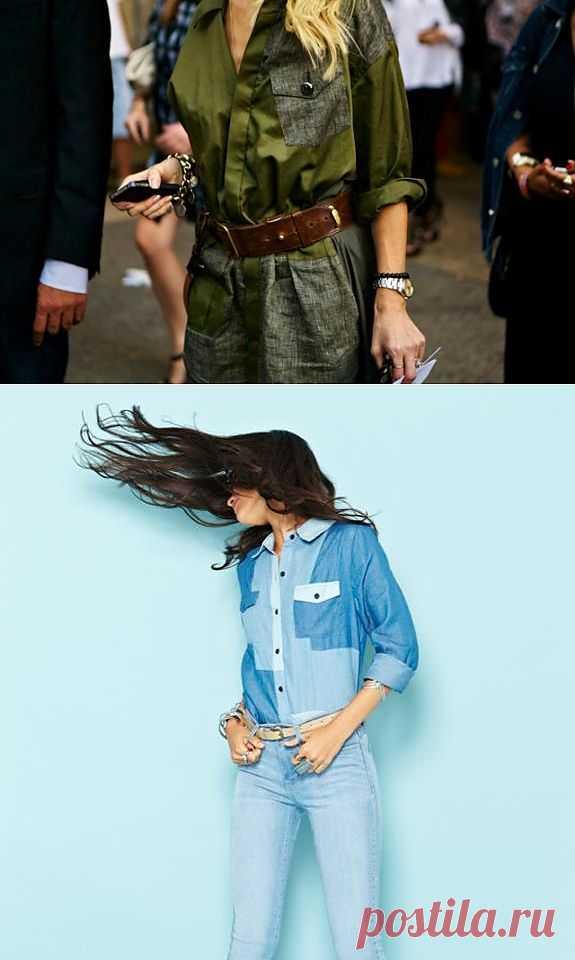 Две рубашки из кусков / Блузки / Модный сайт о стильной переделке одежды и интерьера