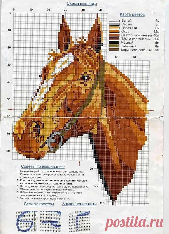 Схемы для вышивки лошадей крестом / Схемы вышивки крестиком / PassionForum - мастер-классы по рукоделию