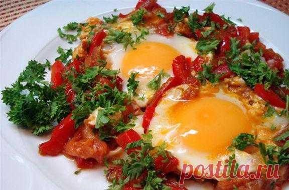Шакшука. Шакшука – это яичница с помидорами, перцем и специями. Заказать шакшуку в Израиле вы можете буквально в любом кафе или ресторане. Это быстро, вкусно и очень просто. Попробуйте!